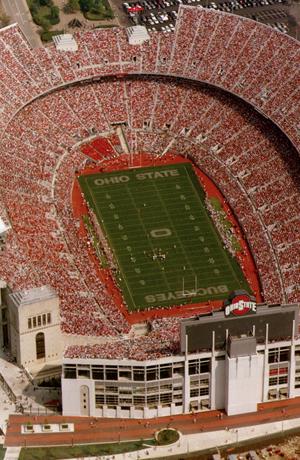 Ohio Stadium, the Horseshoe, on game day