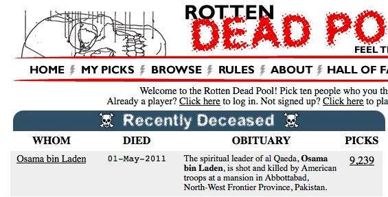 Bin Laden hits the Deadpool