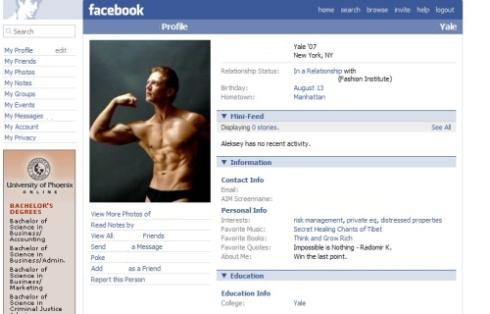 Prototypical Facebook Douchebag