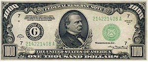 $1,000 bill - different businesses yield different profits. Not every dollar is the same.