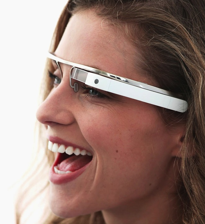 Google Glass wearable computer with augmented reality capabilities