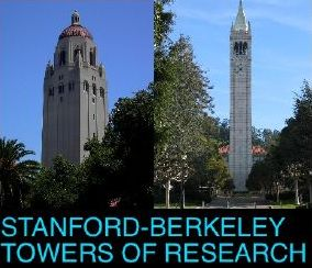 Towers on the Stanford and Berkeley campuses