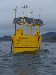 Finavera's Aquabuoy power generation prototype