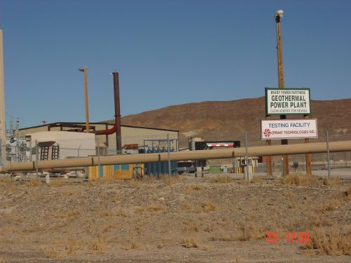Closeup view of Brady Geothermal Power Plant