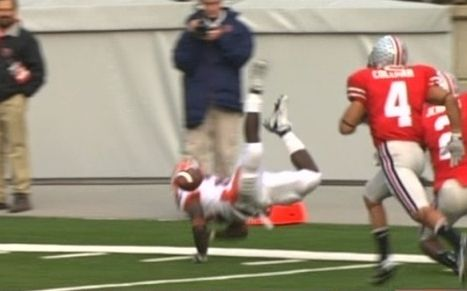 Blown call on this fumble in the Ohio State Illinois football game in 2007.