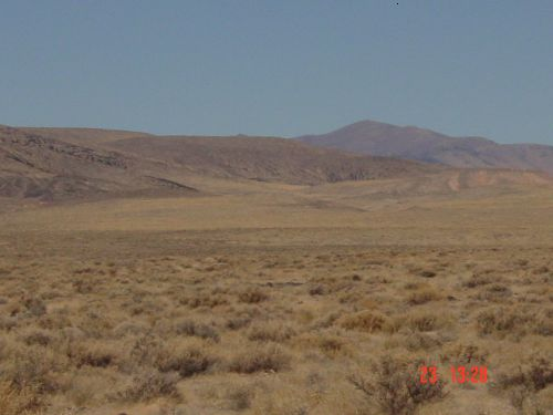 Sou Hills Nevada - view is directed toward the south from the 40th parallel