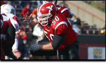 Photo of Youngstown State University football player